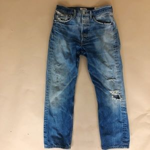 Levi's Vintage Lived In Distressed Button-fly Jean